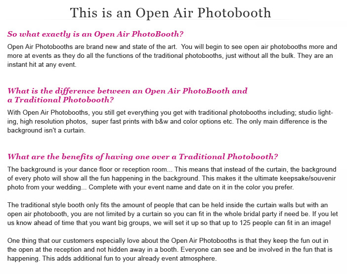 Photo Booth Pricing - Chicago Wedding Photographer